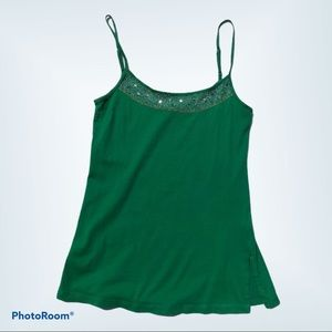 American Eagle Outfitters XS Green Top with Beaded